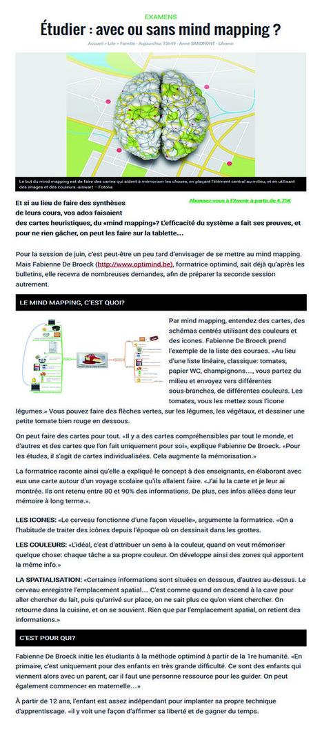 L'Avenir.net - etudier : avec ou sans mind mapping ? | Mind Mapping (et autres techniques similaires) | Scoop.it