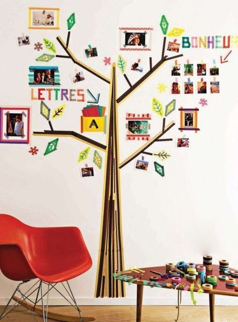 Aprenda a renovar uma mesa utilizando fita adesiva colorida | Palpi Kitchen & Home | Scoop.it