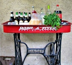Radio Flyer patio bar | Upcycled Garden Style | Scoop.it