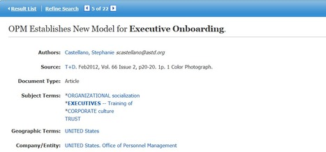 US OPM Executive Onboarding Tool | On-boarding Best Practices and Trends | Scoop.it