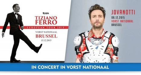 Jovanotti & Tiziano Ferro – 2 weken, 2 Italiaanse concerten in Vorst Nationaal | Italian Entertainment And More | Scoop.it