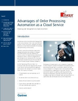 Advantages of Order Processing Automation as a Cloud Service - IT Whitepapers | Cloud Computing Trends and News | Scoop.it