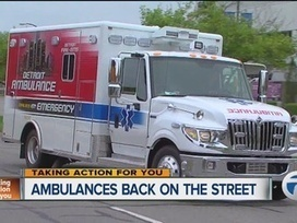 Donated Detroit ambulances to be maintained - WXYZ | OCHS11026 - Paramedic Occupational Health & Safety | Scoop.it