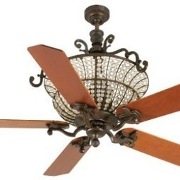 Craftmade K10877 Craftmade K10877 Cortana Ceiling Fan with Five 52″ Custom Wood Cherry Blades, Peruvian | MegaShopMart | Luxury Ceiling Fans with Lights | Scoop.it