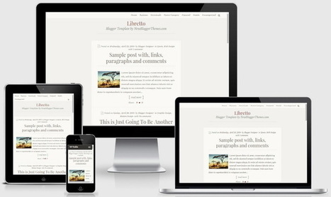 Libretto Blogger Template | Blogger themes | Scoop.it