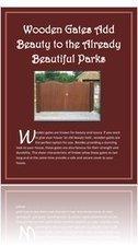 Read Wooden Gates Add Beauty To The Already Beautiful Parks Online Free   Business   YUDU   Garden Gates   Scoop.it