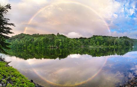 ALLPE Medio Ambiente Blog Medioambiente.org : Sólo un arco íris y su reflejo perfecto en el río Connecticut | Refracción | Scoop.it