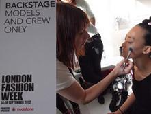 Backstage makeup at London Fashion Week: Huishan Zhang SS13 look | Sugarscape | High Fashion Makeup | Scoop.it
