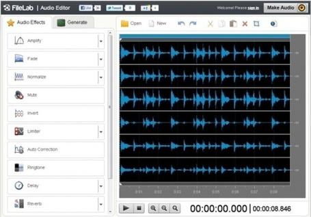 Editor de audio online: FileLab | #REDXXI | Scoop.it