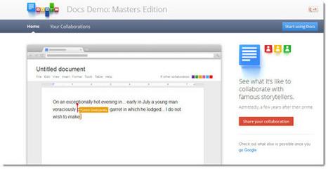 Google nos propone colaborar en Google Docs con grandes escritores de todos los tiempos | VIM | Scoop.it