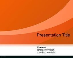 Free Green Abstract Curves PowerPoint Template | Free  PowerPoint Templates | Scoop.it