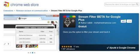 Filtrer son flux Google Plus par mots-clé, Stream Filter | Ballajack | Time to Learn | Scoop.it