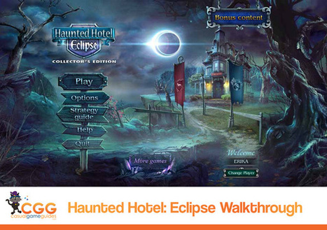 Haunted Hotel: Eclipse Walkthrough: From CasualGameGuides.com | Casual Game Walkthroughs | Scoop.it