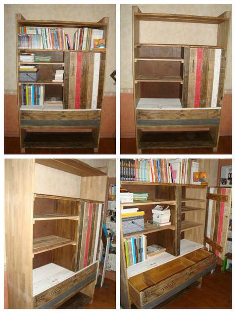 Meuble bibliothèque en palettes  Pallet -> Meuble Bibliothèque