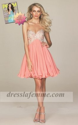 Coral Short Sparkly Top Lace Prom Dresses For Sale [short coral prom dresses] - $165.00 : Cheap La Femme Dresses,Homecoming Dresses On Sale | sherri hill prom dresses 2014 | Scoop.it