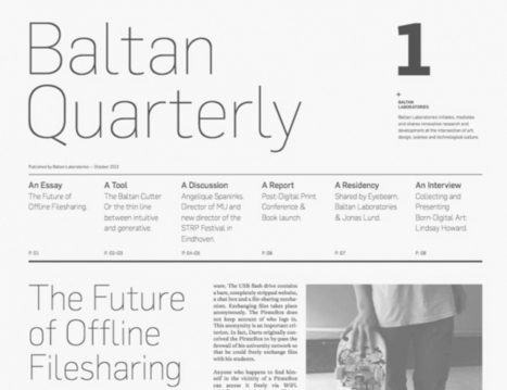 Report dedicato al libro su Baltan quarterly 1   Baltan Laboratories   Post-digital Print. La mutazione dell'editoria dal 1894   Scoop.it