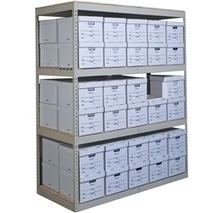 Record Storage Rivet Shelving Units w/ 4 levels- Hallowell   Comercial Organizing   Scoop.it