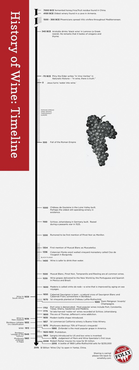 History of Wine Timeline (Infographic) | Love Your (Unstuffy) Wine | Scoop.it