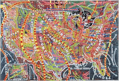 The map paintings of Paula Scher... | Art for art's sake... | Scoop.it