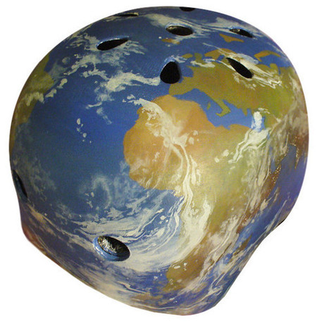 Earth-themed Bike Helmet | TIG | Scoop.it