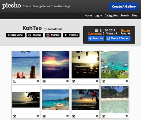 Curate Embeddable Thematic Photo Galleries from Social Hashtags with Picsho | Content Curation World | Scoop.it
