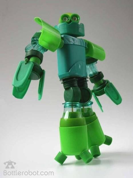 Bottlerobot Robots con trozos de botellas pl sticas recicladas