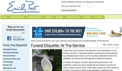 Funeral Etiquette for funeral services in the Inland Empire | Inland Memorial Inc. | Scoop.it