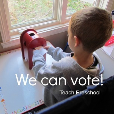 We can vote | Election Day | Teach Preschool | Scoop.it