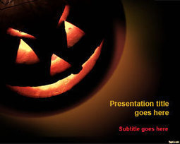 Free Halloween Pumpkin PowerPoint Template | Free Powerpoint Templates | Education | Scoop.it