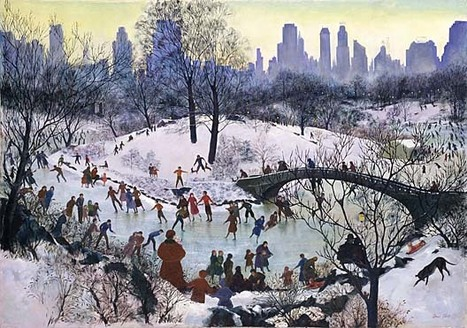 "Agnes Tait ""Skating in Central Park"" 1934 