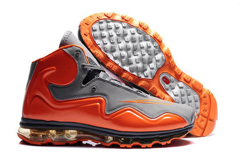 Air Flyposite Men Shoes Cool Grey and Total Orange | new and share list | Scoop.it