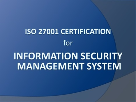 ISO 27001 Certification   ISO 27001 Certification   Scoop.it