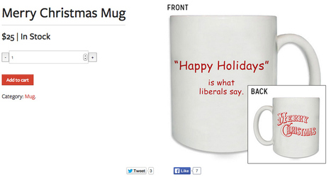 "NRCC Launches ""Happy Holidays Is What Liberals Say"" Mug 
