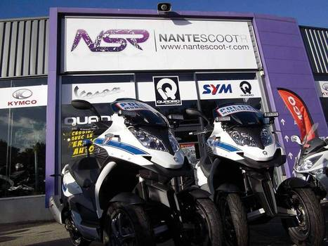Nantes : la Police roule en maxi-scooter Quadro | Scooter's news | Scoop.it