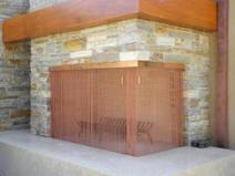 Copper Corner Bar Fireplace Screen | Fireplace Gallery | San Diego | Fireplace Glass Doors | Scoop.it