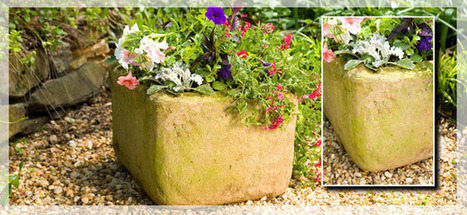 Stone-look planter created from a styrofoam cooler | Upcycled Garden Style | Scoop.it