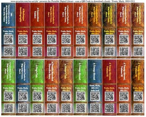 QR Code Portable Bookshelf | QR Code ® Artist | phetwick | Scoop.it