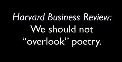 "Harvard Business Review: We should not ""overlook"" poetry. 