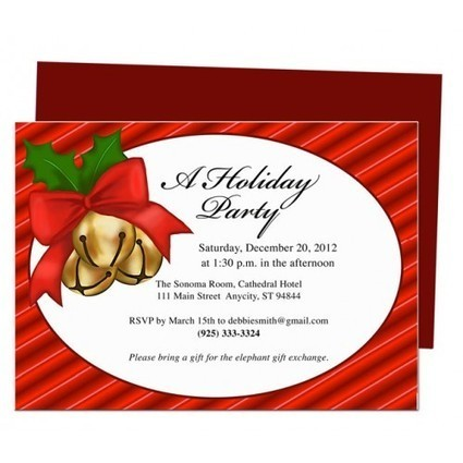Get Customized and Personalized Printable Invitation Templates for Christmas | Ready Made Celebration Templates | Scoop.it