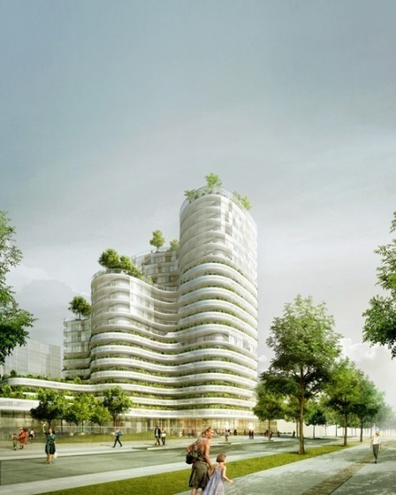 [Nantes, France] Housing Units in Nantes Winning Proposal / Hamonic + Masson | The Architecture of the City | Scoop.it