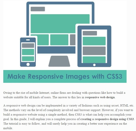 How to Make Responsive Images with CSS3: Complete Guide - DesignWebKit | HTML5, CSS3, JS | Scoop.it