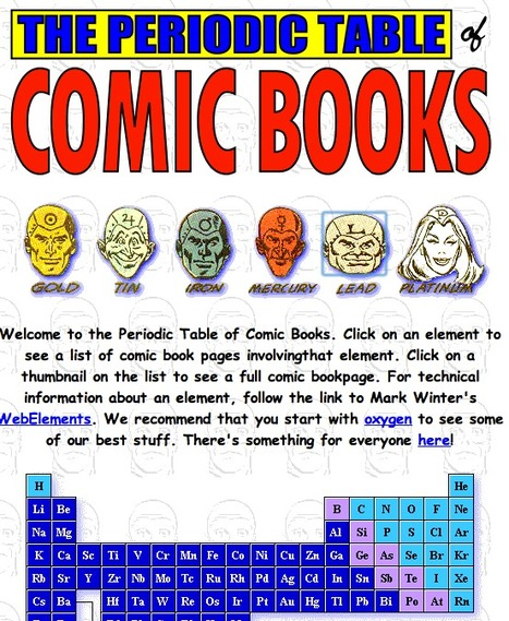 The Comic Book Periodic Table of the Elements | Moodle and Web 2.0 | Scoop.it