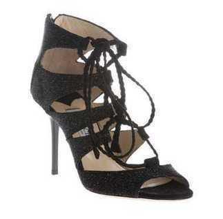Jimmy Choo Gladys Black Calf Leather Sandals cheap sale | oil painting | Scoop.it