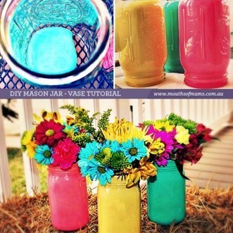 How to paint mason jars | Home Tips | Scoop.it