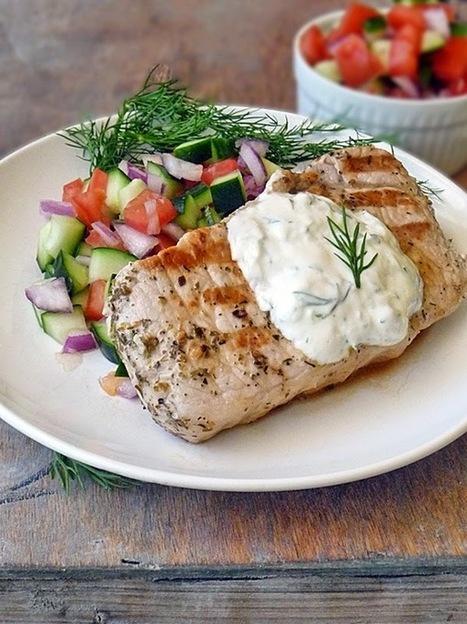 #HealthyRecipe // Greek Style Pork Chops | lovemefood | Scoop.it