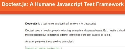 Doctest.js – A Humane JavaScript Test Framework | when HiFi is ... | Next Web App | Scoop.it