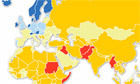 Peoples under threat around the world: map | All Things Geography | Scoop.it