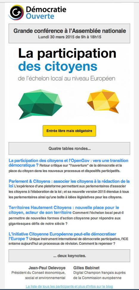 [Invitation] Grande conférence Démocratie Ouverte à l'Assemblée nationale ! | actions de concertation citoyenne | Scoop.it