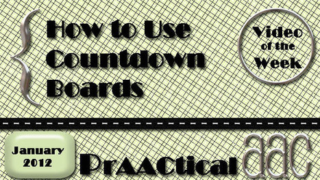 How to Use a Countdown Board | AAC: Augmentative and Alternative Communication | Scoop.it