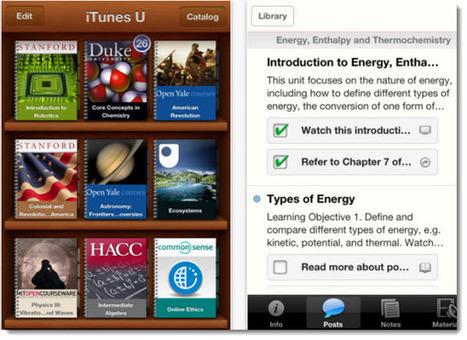 iTunes U App, para acceder a cursos educativos online desde dispositivos móviles   Noticias, Recursos y Contenidos sobre Aprendizaje   Scoop.it